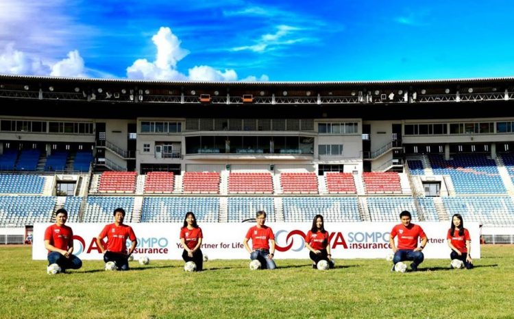 Introducing the AYA SOMPO Insurance's Brand Logo with Myanmar National League Partnership