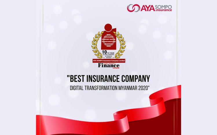 Best Insurance Company Digital Transformation Myanmar 2020