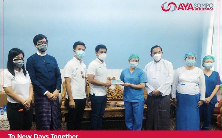 Donation of 5 Million kyats to 300-bed Teaching Hospital Mandalay